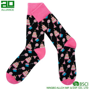 Happy Gifts Custom Dress Men Socks pictures & photos