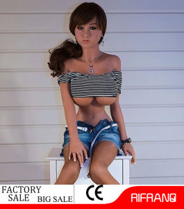 158cm Black Skin Silicone Sex Doll with Stand Feet pictures & photos