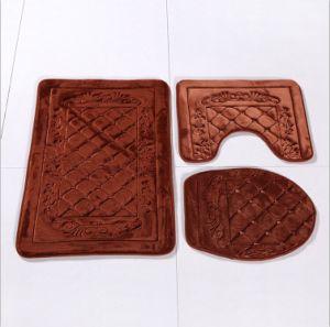 Memory Foam 3 Pieces Set Anti-Slip Bathroom Mat pictures & photos