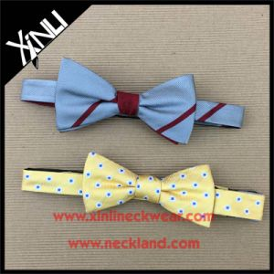 Perfect Knot Wholesale Silk Woven Bowtie for Men pictures & photos