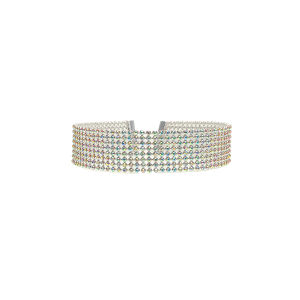 Fashion Luxury Women Bling Diamond Crystal Rhinestone Choker Necklace Wedding Jewelry pictures & photos