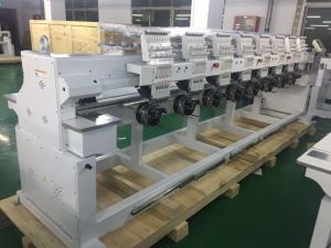 8 Head 12 Needle Commercial Embroidery Machine for Cap T Shirt Flat Embroidery pictures & photos