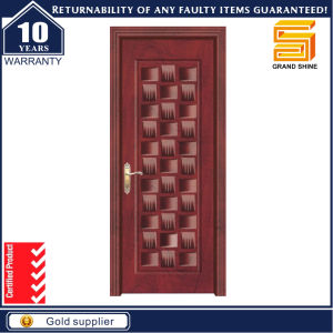 Simple Design Security Steel MDF Wood Veneer Armored Door pictures & photos