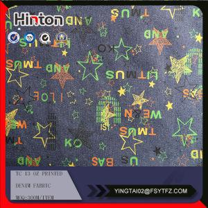 Tc Printed Denim Textile on Sale pictures & photos