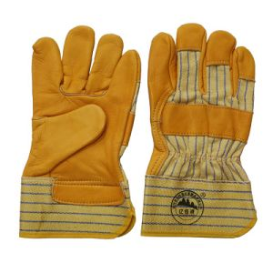 Top Grain Cowhide Gloves Hand Protective Driving Gloves pictures & photos