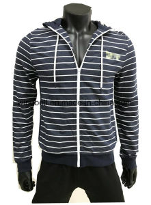 New Design Hoody for Young Men with Yarn Dye Striped pictures & photos