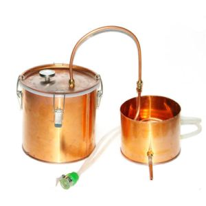 10L/3gal Copper Still High Efficiency Handle Essential Oil Distllation Equipment pictures & photos