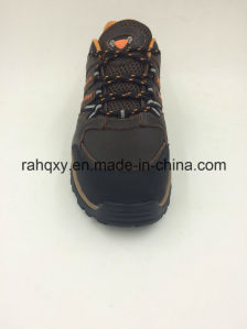 Split Leather Men′s Safety Working Shoes (16069) pictures & photos