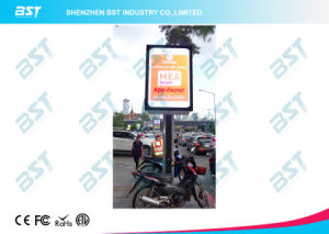 P6mm Street Light Pole Double Side Advertising LED Display Screen pictures & photos