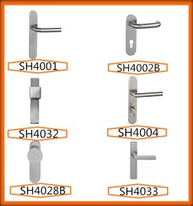 Jiangmen Door Hardware Stainless Steel Door Handles on Plated pictures & photos