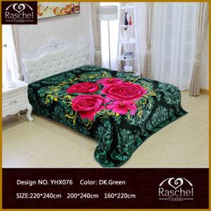 Super Soft Blanket of 100% Polyester Yarn Mink Raschel Quality