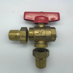 Brass Color, High Temperature Resistant Three-Way Valve pictures & photos