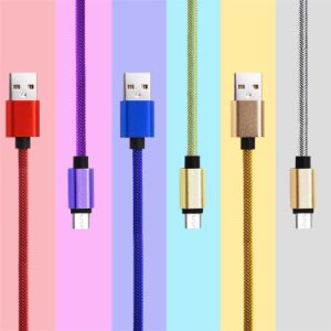 Nylon Insulated 8 Pin Lighting Data and Charging Cable for Samsung Phone pictures & photos