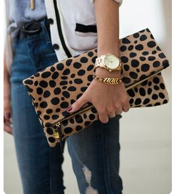 Fashion PU Women Daily Clutch Bags with Leopard Printing (BDX-161018) pictures & photos