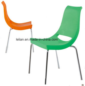 Comfortable Stackable Plastic Metal Coffee and Dining Chair (LL-0062) pictures & photos