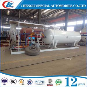 ClW Factory Direct Sales 10, 000L LPG Cylinder Filling Plant, 10cbm LPG Skid Station for Nigeria pictures & photos