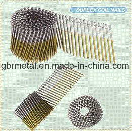Q195/Q235 Duplex Roofing Nails Coil Nails pictures & photos