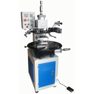 Tam-90-5 Rotary Table Pneumatic Hot Stamping Machine on Leather pictures & photos