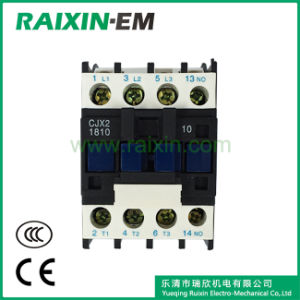 Raixin Cjx2-1810 AC Contactor 3p AC-3 380V 7.5kw Silver Contact Magnetic Contactor pictures & photos