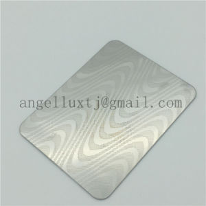 Antique Square Pattern Black PVD Coated 304 Stainless Steel Embossed Sheet Manufacture pictures & photos
