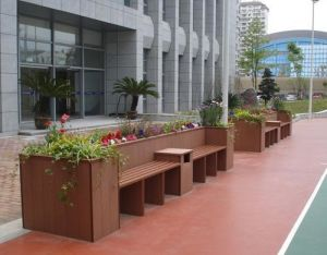 Environmentally Friendly WPC Outdoor Flower Pot pictures & photos