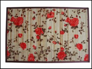 Best Wholesale 17mm Bamboo Rugs with Flower Printing pictures & photos