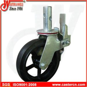 8 Inch Rubber on Cast Iron Scaffold Caster pictures & photos