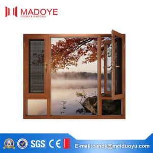 Wood Color Heat Insulated Aluminium Alloy Thermal Break Casement Window pictures & photos