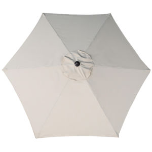 7.2FT Outdoor Patio Steel Market Umbrella Beach Shade with Cross Base Beige pictures & photos