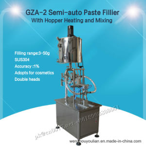 Semi-Auto Paste Filling Machine with Hopper Heating and Mixing pictures & photos