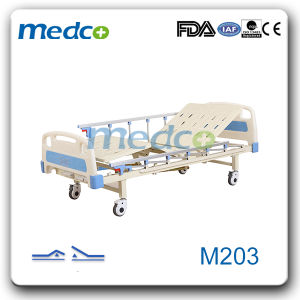 Two Function Manual Hospital Patients Bed M203 pictures & photos