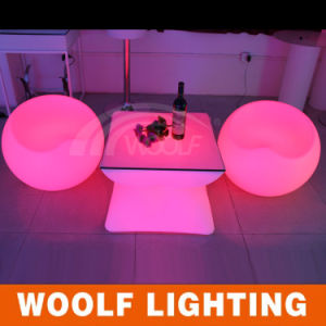 Party Chairs for Sale Plastic LED Light Furniture Table pictures & photos
