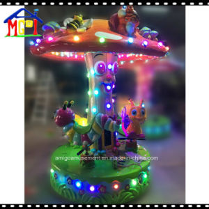 Small Worm Carousel with LED Lights Around Kids Games pictures & photos