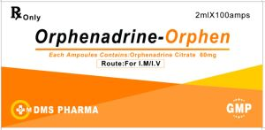 Human Medicine for Injection Orphenadrine Citrate Injection 2ml60mg pictures & photos