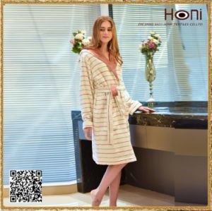 100% Cotton Girls Bathrobe China Manufacture High Quality Printed Lady Pajamas
