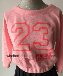 Fluorescent Pretty Cotton Pullover for Girl with Slub pictures & photos