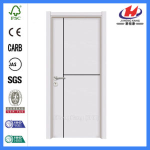 Hinges Plain Steel Interior Wooden PVC Door (JHK-P01) pictures & photos