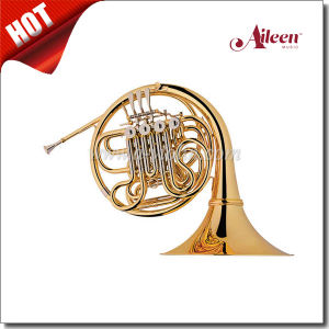 F/ Bb 4 Keys Gold Lacquered Double French Horn (FH7043G) pictures & photos