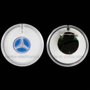 Customed Logo LED Flashing Light Badge for Promotion Gifts (3569) pictures & photos