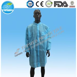 Disposable Nonwoven PP SMS Mf Lab Gown Lab Coat pictures & photos