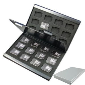 Aluminum Holder Case for 24 TF Micro SD Card Case pictures & photos