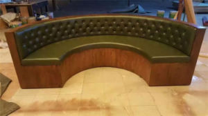 American Diner Seating Circle Shape Booth Leather Upholstery Restaurant Booths for Sale Foh-Ck56 pictures & photos