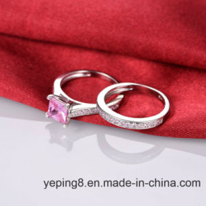 Princess Cut Pink Diamond Ring Set - 45 pictures & photos