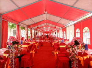 Small Party Wedding Tent 8m X 36m in Red and White
