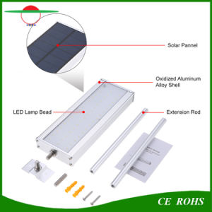 Solar Lights Radar Sensor Garden Light 48LED Aluminium Alloy IP65 Outdoor Solar Lamp High Brightness Flexible Street Light pictures & photos