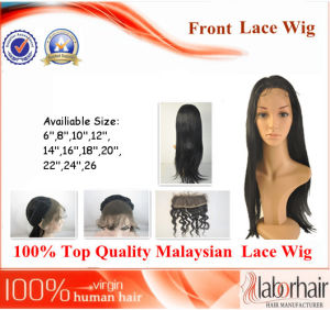 Malaysian Virgin Hair Front Lace Wigs (6Inch-Straight) pictures & photos