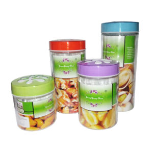 High Quality Glass Jar with Color Lid pictures & photos