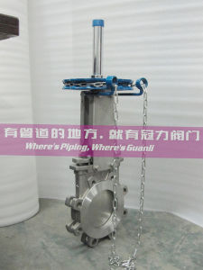 Stainless Steel Chainwheel Lug Knife Gate Valve pictures & photos