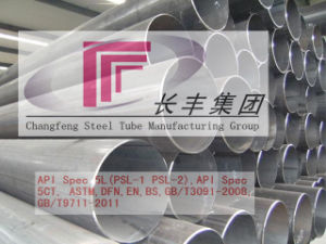 Welded Oiled Round Carbon Steel Pipe for Machinery Industry pictures & photos
