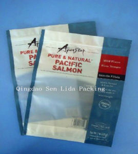 Laminated Plastic Food Bag with Zipper for Fish Packaging pictures & photos